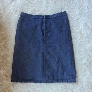Banana Republic Womens Dark Denim Jean Pencil Skirt